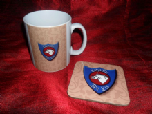 Loyaulte Me Lie Mug and Coaster Set.